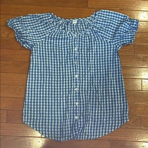 NWOT Adorable Gingham Top
